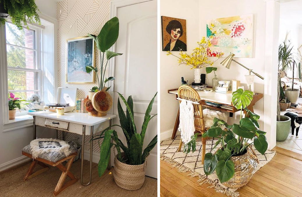 Boho Chic Home Office - Vettore